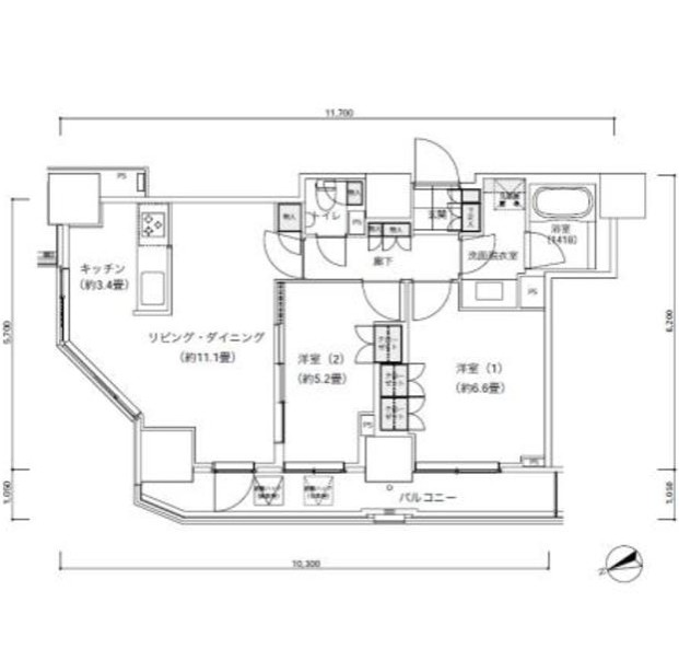 パークキューブ愛宕山タワー501号室