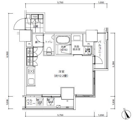 パークキューブ愛宕山タワー504号室