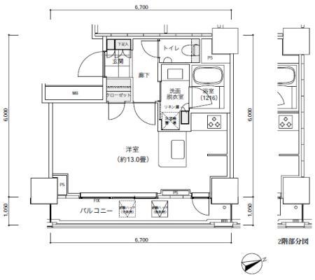 パークキューブ愛宕山タワー507号室