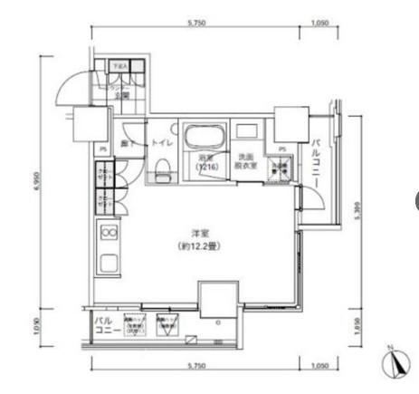 パークキューブ愛宕山タワー704号室