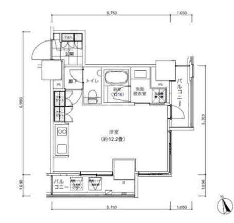 パークキューブ愛宕山タワー904号室