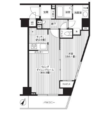 カスタリア初台1303号室/仲介手数料無料