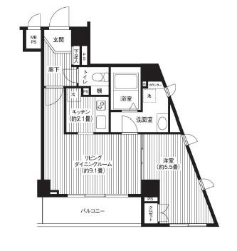 カスタリア初台404号室
