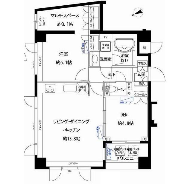 フォレシティ富ヶ谷605号室