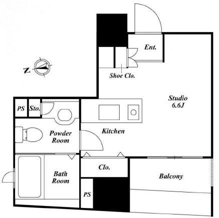 クレジデンス銀座タワーワンフィフティーン708号室