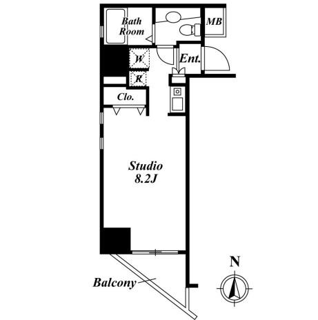 クレジデンス虎ノ門  801号室