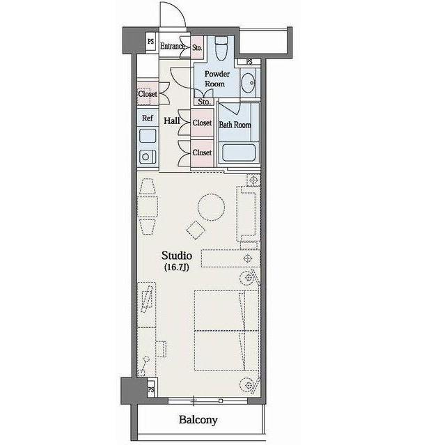六本木デュープレックスM's512号室