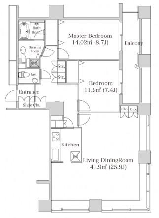 ラ・トゥール神楽坂1101号室