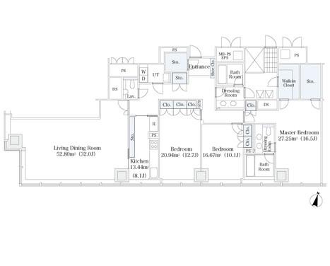 ラ・トゥール芝公園Ⅱ2702号室