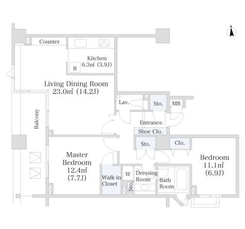 ラ・トゥール芝公園アネックス407号室