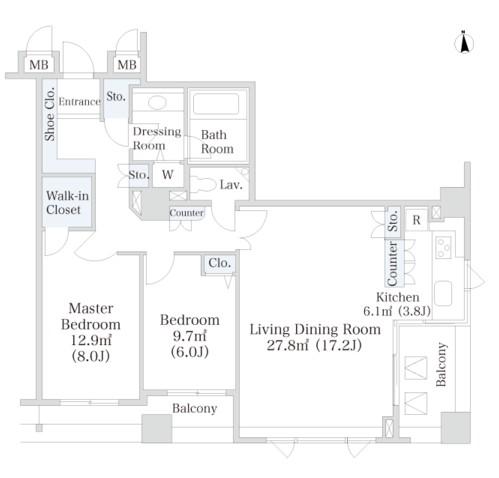 ラ・トゥール芝公園アネックス502号室