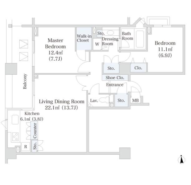 ラ・トゥール芝公園アネックス604号室