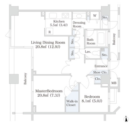 ラ・トゥール芝公園アネックス605号室