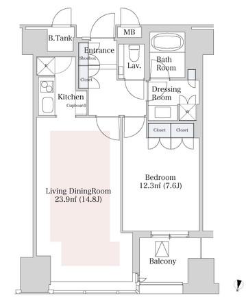 ラ・トゥール新宿1304号室