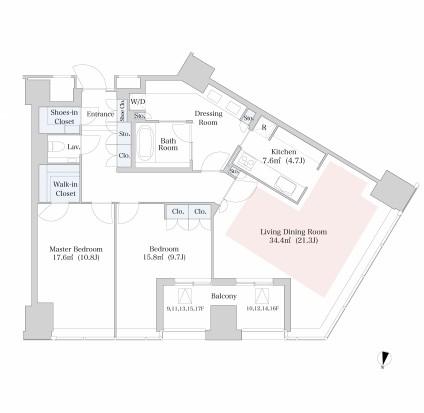 ラ・トゥール新宿1601号室