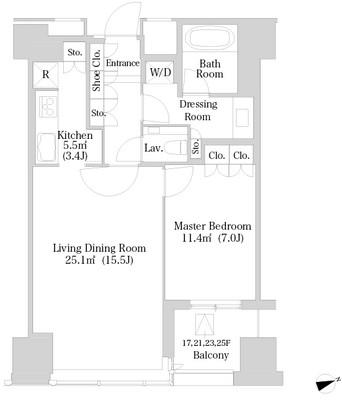 ラ・トゥール新宿1716号室