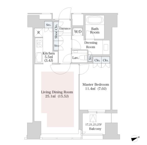 ラ・トゥール新宿2018号室