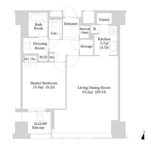 ラ・トゥール新宿2412号室