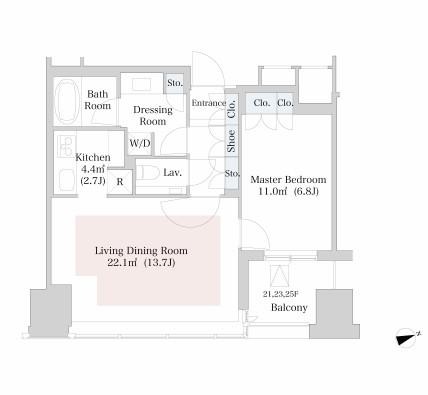 ラ・トゥール新宿2523号室