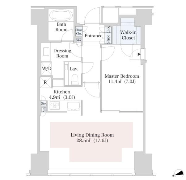 ラ・トゥール新宿2705号室