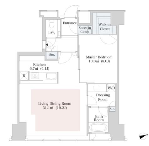 ラ・トゥール新宿2913号室