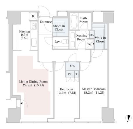 ラ・トゥール新宿3102号室