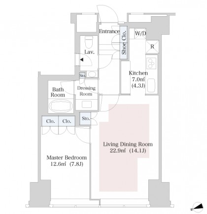 ラ・トゥール新宿3506号室
