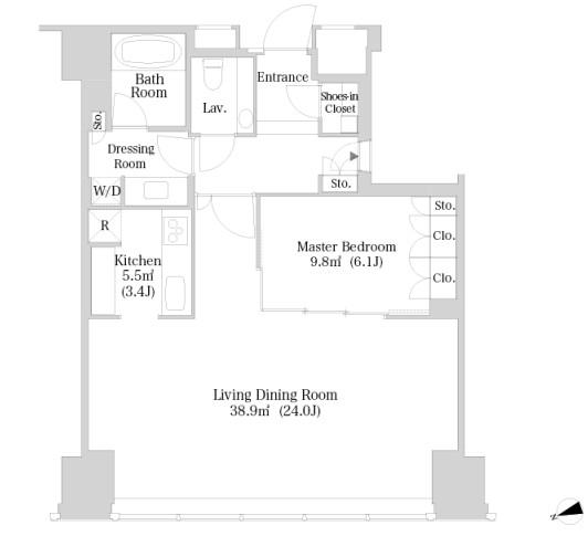 ラ・トゥール新宿3704号室