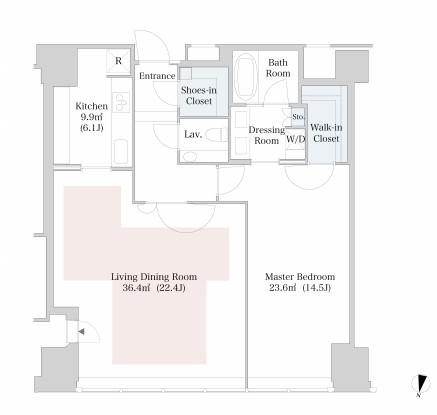 ラ・トゥール新宿3801号室