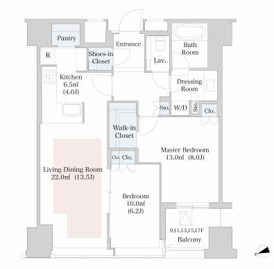 ラ・トゥール新宿802号室