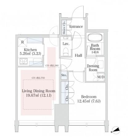 ラ・トゥール新宿グランド1902号室