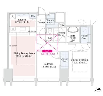 ラ・トゥール新宿グランド3303号室