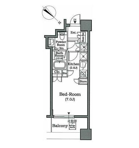 ホライズンプレイス赤坂1006号室