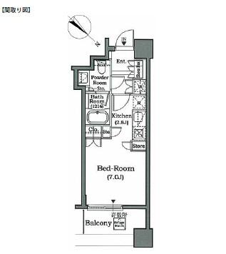 ホライズンプレイス赤坂1106号室