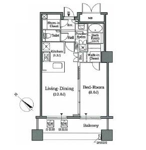 ホライズンプレイス赤坂1203号室