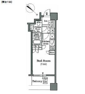 ホライズンプレイス赤坂506号室
