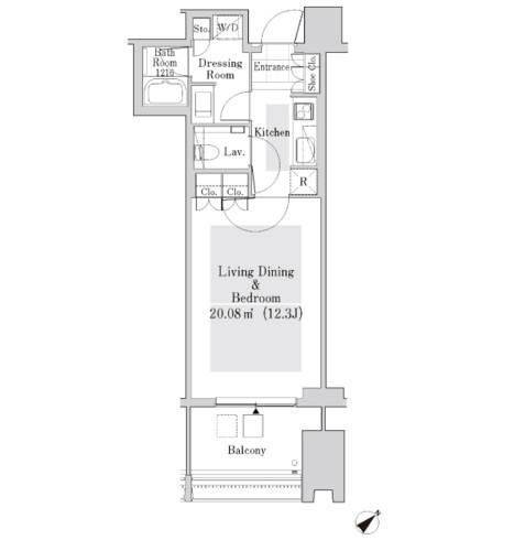 ラ・トゥール新宿ガーデン3306号室