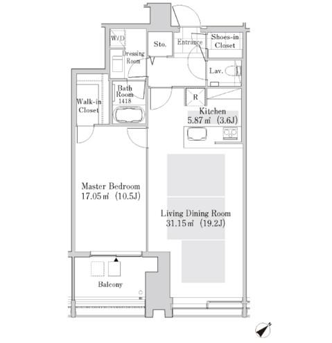 ラ・トゥール新宿ガーデン3408号室