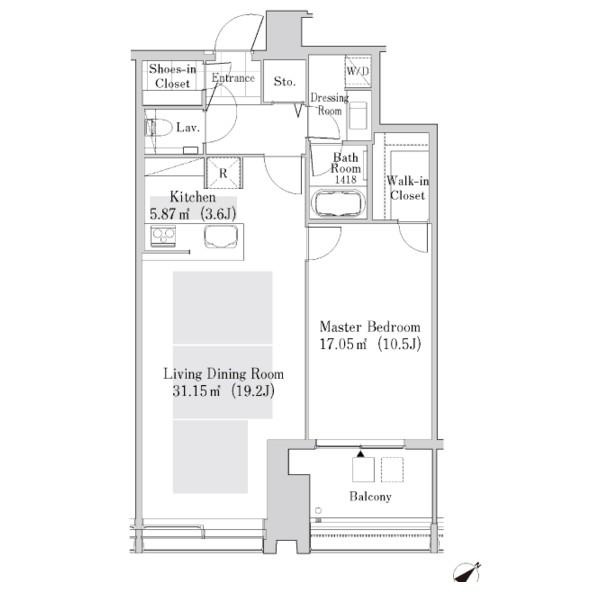 ラ・トゥール新宿ガーデン3605号室
