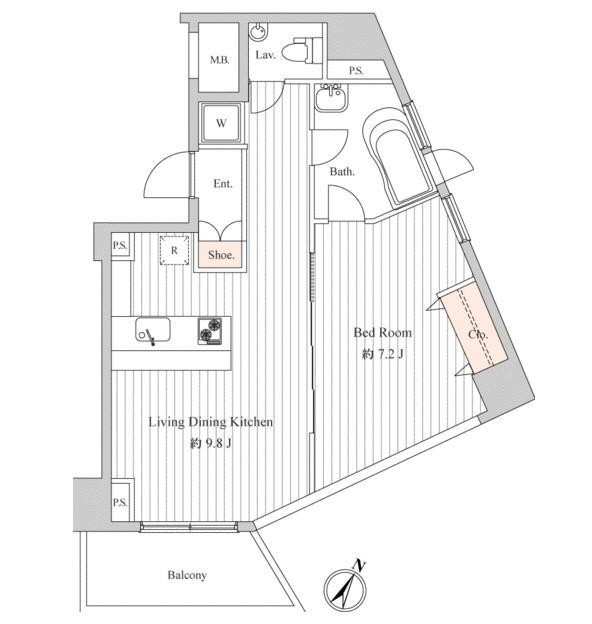 スペーシア麻布十番Ⅰ1102号室