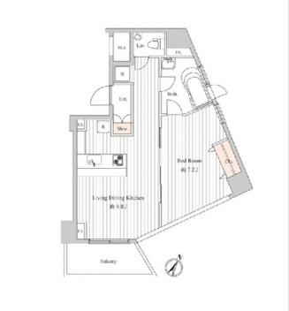 スペーシア麻布十番Ⅰ702号室