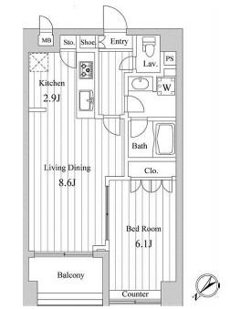 スペーシア三軒茶屋弐番館 219号室