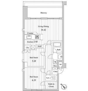 スペーシア三軒茶屋弐番館413号室