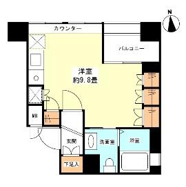 グランカーサ新宿御苑607号室
