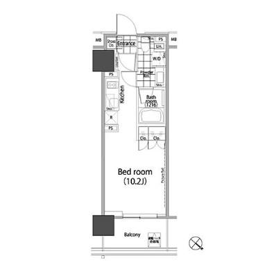 パークハビオ赤坂タワー1203号室