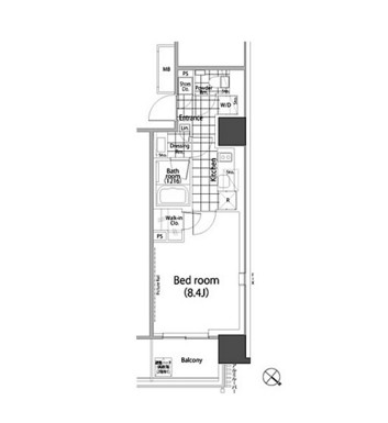 パークハビオ赤坂タワー1206号室