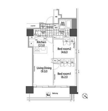 パークハビオ赤坂タワー1903号室