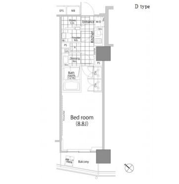 パークハビオ赤坂タワー410号室