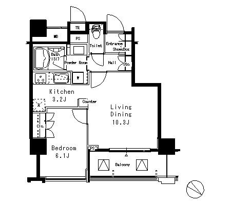 アトリア目黒タワー1107号室