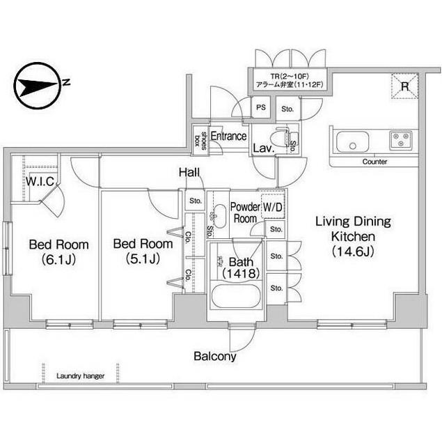 コンフォリア田町203号室